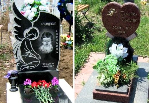 Детские памятники на могилу для младенцев: примеры оформления